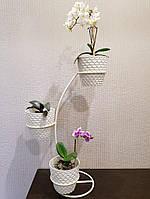 Настольная-2, подставка для цветов на 3 чаши