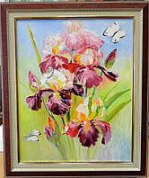"""Картина """"Ирисы и бабочки"""", фото 1"""