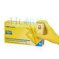 Перчатки нитриловые, смотровые Style Lemon Желтые (100шт./уп.), фото 1