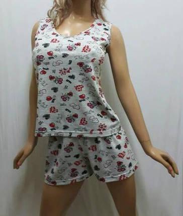 Пижама шорты с майкой хлопок, размеры от 44 до 50, Харьков, фото 2
