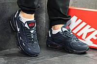 Мужские кроссовки Nike air max- 95-синие-Пресскожа,сетка,подошва пена(силиконовые подушки), размеры:41-45 , фото 1