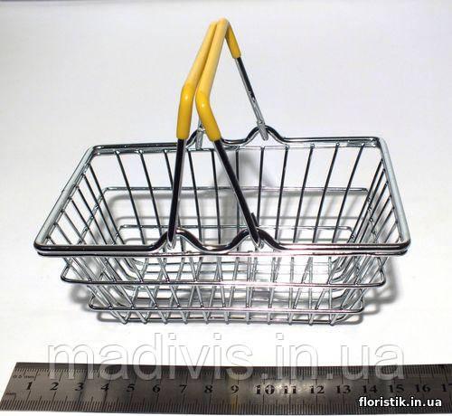 Декоративная мини-корзинка из супермаркета, желтая