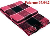 Плед  полуторный 140х200, тм. VLADI, Палермо «Palermo» 07.04.2 (роз-бел-черн)