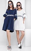 Женское летнее платье спортивного кроя с воланами Roshel (разные цвета)