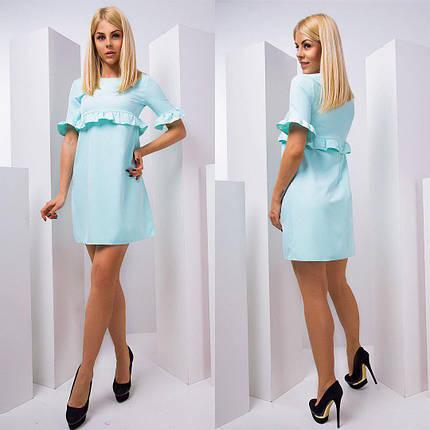 Прямое платье мини с рюшами тв-180432-2, фото 2