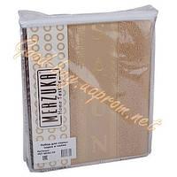 Набор для сауны женский MERZUKA песочный  (тапочки, шапочка, полотенце) 100% cotton Турция