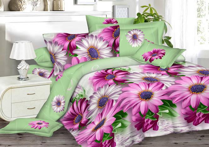 Двуспальный комплект постельного белья евро 200*220 сатин (9727) TM КРИСПОЛ Украина, фото 2