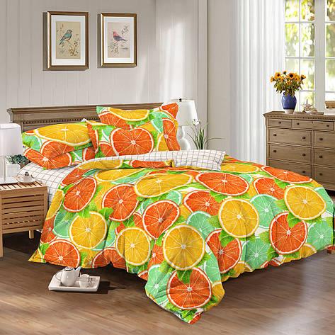 Двуспальный комплект постельного белья евро 200*220 сатин (9731) TM КРИСПОЛ Украина, фото 2
