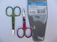 Ножницы ногтевые KDS  загнутые цветные