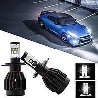 Авто-лампы H4 4 CREE LED 40W 4500LM (светодиодные лампочки для авто, лучше за галогеновые и ксенон)