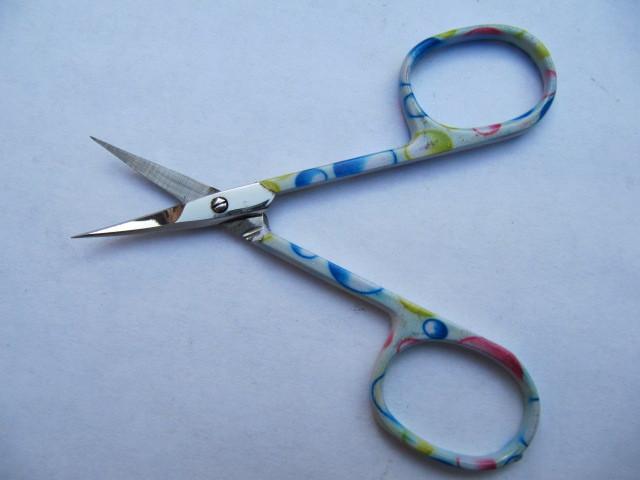Ножницы маникюрные КDS для удаления кутикул цветные