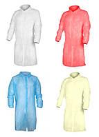 Одноразовый халат на кнопках (30 г/м2), Белый, 20 шт.