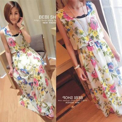 faec99063dc Женское летнее длинное платье с цветочным принтом 4  продажа