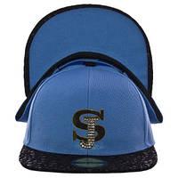 Бейсболка размер 56-58 цвет голубой с черным