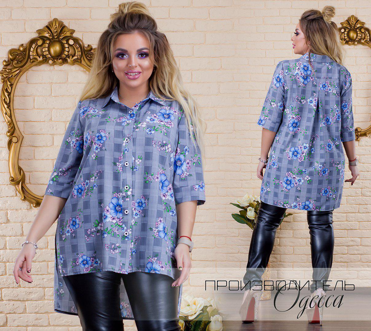Женская рубашка Цветник