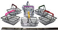Декоративные мини корзинки из супермаркета (металл, хром)