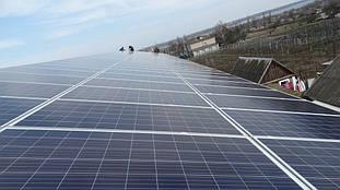 завершение монтажа солнечных панелей