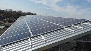 монтаж солнечных батарей на крышу