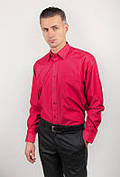 Рубашка яркая атласная Fra №875-16 (Коралловый)