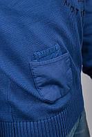 Свитер с капюшоном, толстовка мужская №269F009 (Синий)
