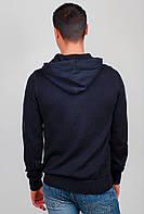 Свитер с капюшоном, толстовка мужская №269F009 (Темно-синий)