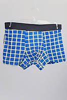 Трусы хлопковые мужские, боксеры №19P012 (Черно-синий)