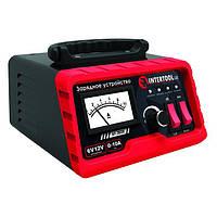 Зарядное устройство 6/12В, регулировка силы тока 0-10А, 230В INTERTOOL AT-3020