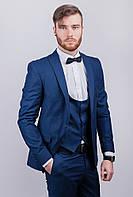 Пиджак синий мужской, на одной пуговице №276F021 (Темно-синий)