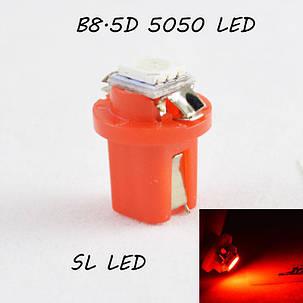 LED лампа в подсветку приборной панели, цоколь B8.5D SL LED красный, фото 2
