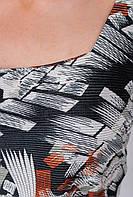 Платье-футляр ниже колена №279F015 (Черно-коричневый)