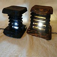 Ночник светильник из дерева (сосна), ручная работа