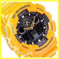 Часы Casio G-Shock GA 100 (8 Моделей) Желтые