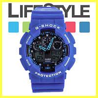 Часы Casio G-Shock GA 100 (8 Моделей) Синие
