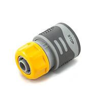 Коннектор Presto-PS для шланга 1/2 дюйма с аквастопом серия Soft-Touch, в упаковке - 30 шт. (4110T)