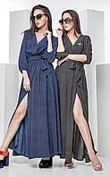 Женское длинное летнее платье-халат Baterflai Touch (разные цвета)