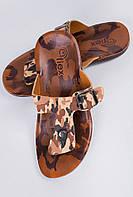 Шлепанцы мужские через палец, вьетнамки №11P009 (Милитари)