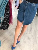 Стильная женская юбка из джинса (фабричный Китай, длина мини, карманы)