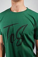 Футболка мужская хлопковая 354K001-6 (Зеленый)