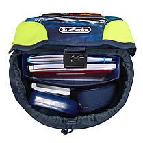 Ранец школьный укомплектованный Herlitz MOTION PLUS Dino Green, фото 3