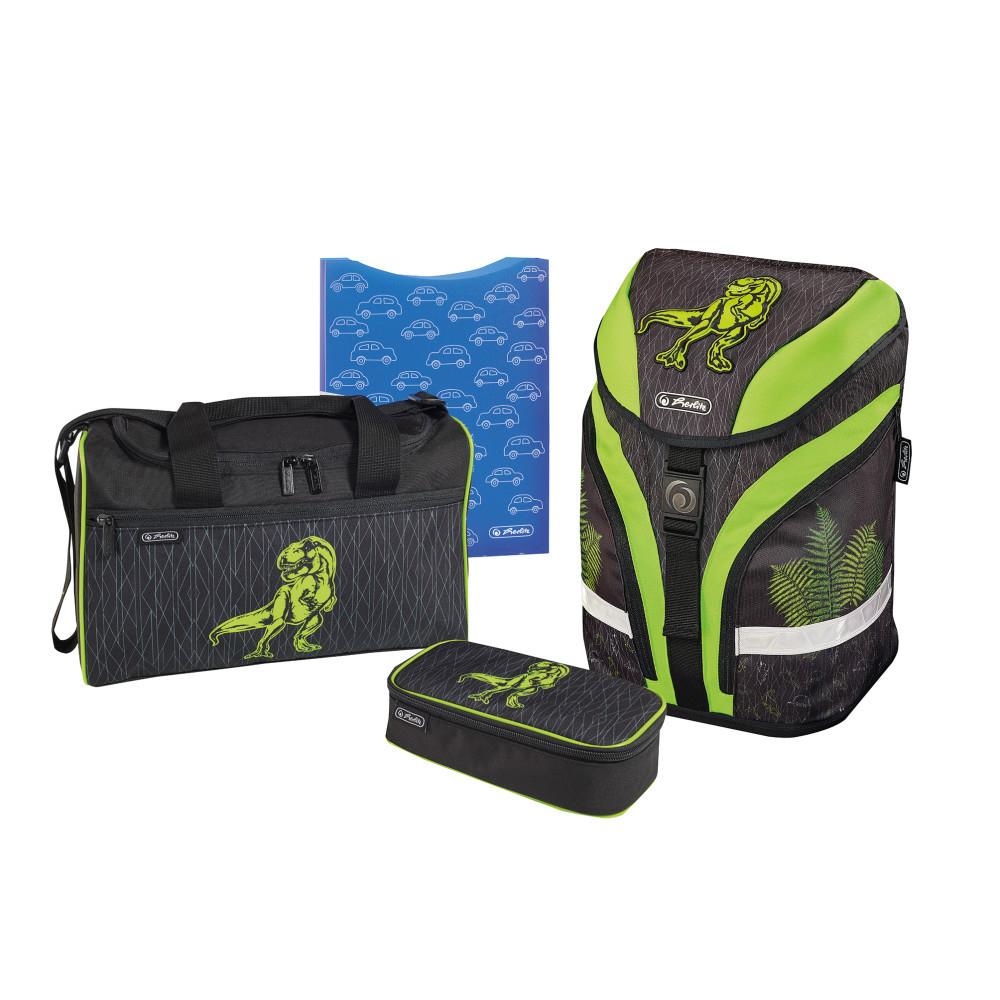 Ранец школьный укомплектованный Herlitz MOTION PLUS Dino Green