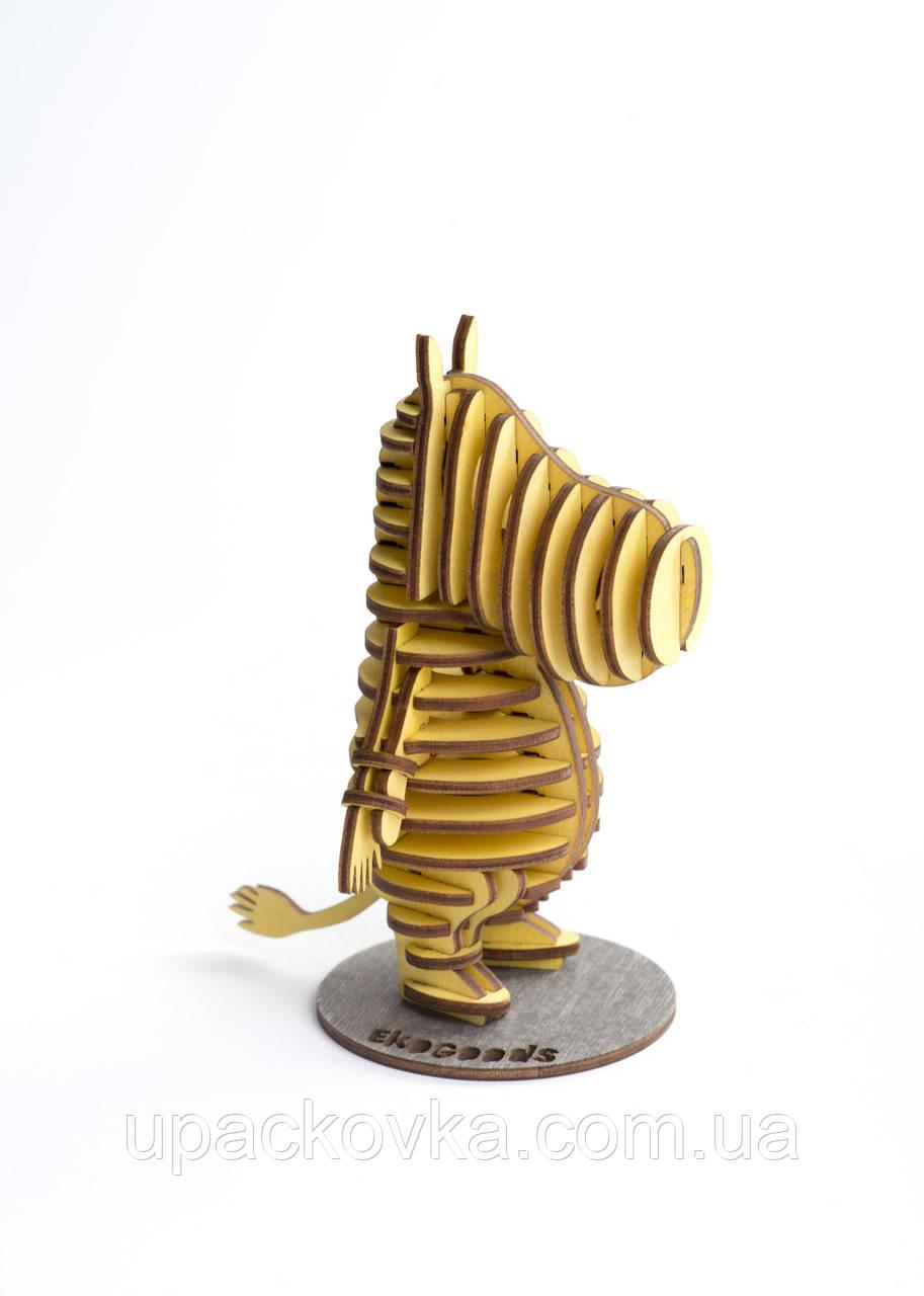 3D модель деревянная Бегемот