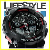 Часы Casio G-Shock GA 100 (8 Моделей) Черно-красные