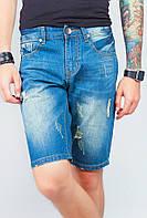 Шорты мужские джинсовые рваные с потертостями 545K001 (Синий)