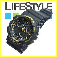 Часы Casio G-Shock GA 100 (8 Моделей) Черно-желтые