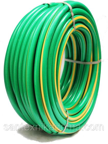 Усиленный поливочный шланг высокого давления 8 Bar рабочее давление Флора 3/4 30м зеленый