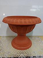 Вазон для цветов на ножке, диаметр 36,5 см высота 30 см, 2904