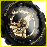 Часы Casio G-Shock GA 100 (8 Моделей) Черные с золотым циферблатом