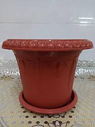 Горшок для цветов пластиковый, диаметр 38,5 см,2507