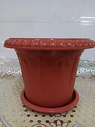 Горшок для цветов пластиковый, диаметр 18 см,2503