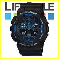 Часы Casio G-Shock GA 100 (8 Моделей) Черно-синие
